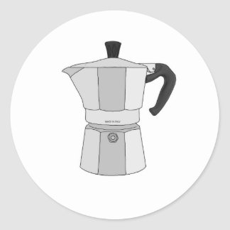 Moka kaffekruka runt klistermärke