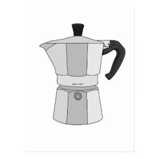 Moka kaffekruka vykort