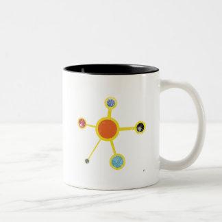 Molekyl med struktur v 2,0 Två-Tonad mugg