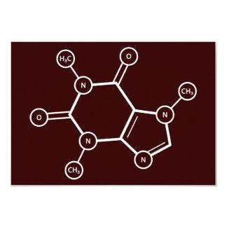 Molekylära C8H10N4O2 strukturerar 8,9 X 12,7 Cm Inbjudningskort