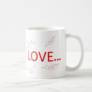 Molekylarna av kärlek… kaffemugg