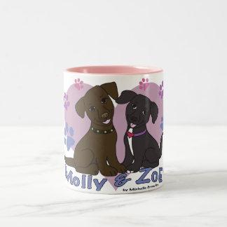 Molly & Zoe Två-Tonad Mugg