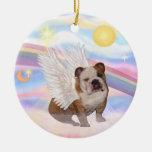 Moln - engelsk bulldoggängel julgransdekorationer