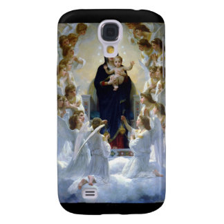 Moln för religion för änglarmadonabebis kristna galaxy s4 fodral