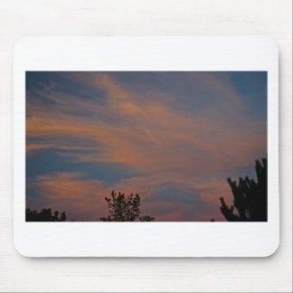 Moln för rosor för blått för Sedona himmelsolnedgå Musmatta