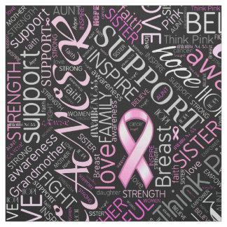 Moln ID261 för bröstcancermedvetenhetord Tyg