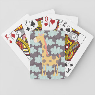 Moln och giraff spelkort