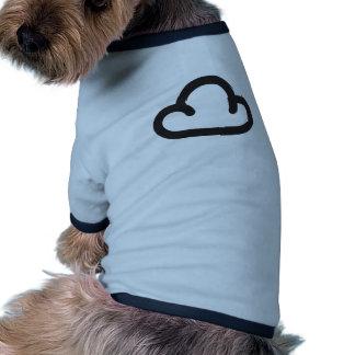 Moln Retro väderprognossymbol Djur Tshirt