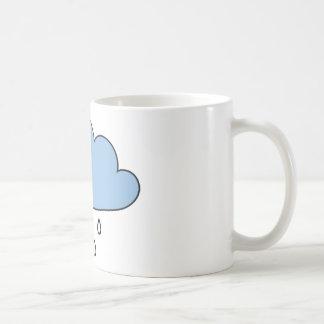 """Moln """"så rätt som regnar """", kaffemugg"""