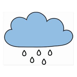 """Moln """"så rätt som regnar """", vykort"""