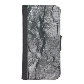 Molnigt kritisera svarten görat strimmig plånboksfodral för iPhone SE/5/5s