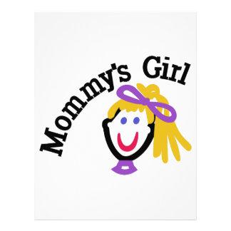 Mommys flicka brevhuvud