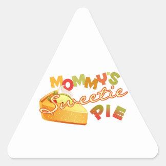 Mommys Sweetiepaj Triangelformat Klistermärke