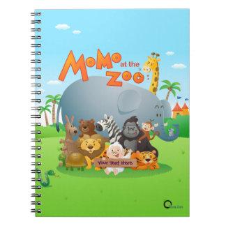 Momo på Zooanteckningsboken Anteckningsbok Med Spiral