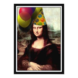 Mona Lisa - födelsedagflickan 12,7 X 17,8 Cm Inbjudningskort