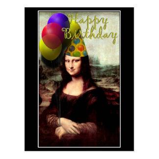 Mona Lisa - födelsedagflickan Vykort