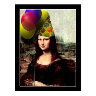 Mona Lisa födelsedagsfesthatt Vykort