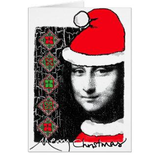 Mona Lisa Julafton-Hälsning kort