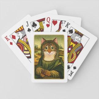Mona Lisa leendeKATT som leker kort Kortlek