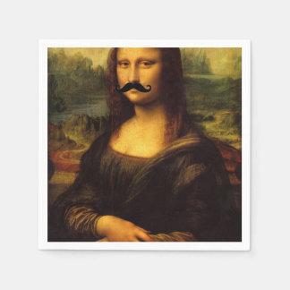 Mona Lisa med moustachen Papper Servett