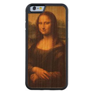 Mona Lisa på det rikliga körsbärsröda Wood fodral