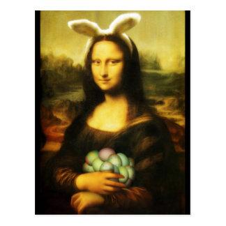 Mona Lisa, påskharen Vykort