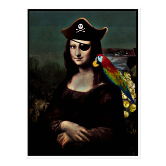 Mona Lisa piratkapten Vykort