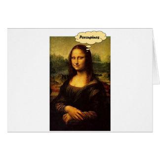 Mona Lisa Porcupines Hälsningskort