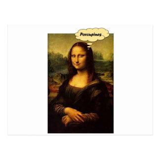 Mona Lisa Porcupines Vykort