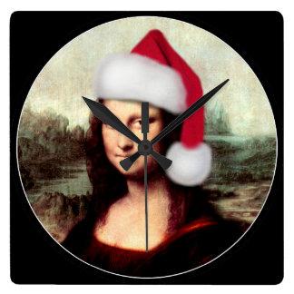 Mona Lisas julSanta hatt Fyrkantig Klocka