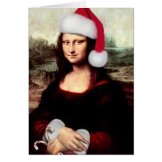 Mona Lisas julSanta hatt Hälsningskort