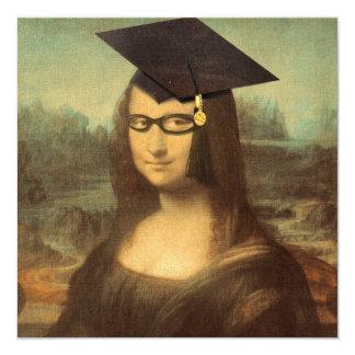 Mona Lisas studentendag Fyrkantigt 13,3 Cm Inbjudningskort