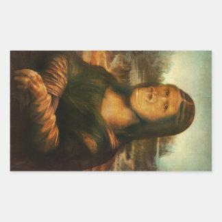 Mona Rilla aka Mona Lisa Rektangulärt Klistermärke