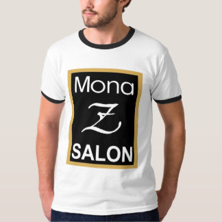 Mona Z logotypmanar utslagsplats för Ringer Tee