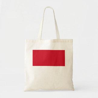 Monaco flagga tygkasse