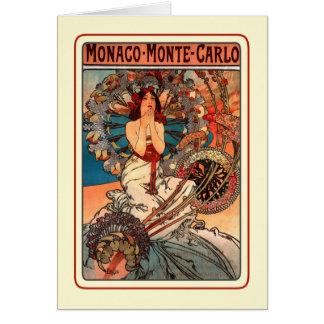 Monaco Monte - carlo (1897) Hälsningskort