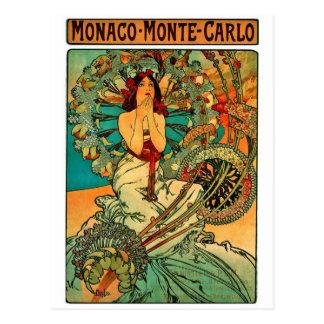 Monaco Monte - carlo art nouveau Vykort