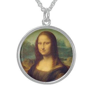 Monaen Lisa av Leonardo Da Vinci Sterling Silver Halsband