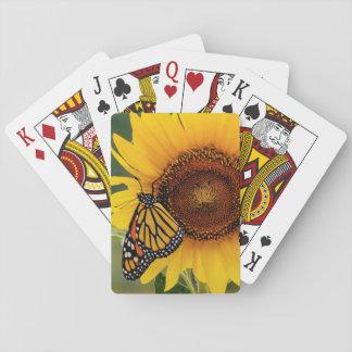 Monark Butterfies på solrosen Spelkort