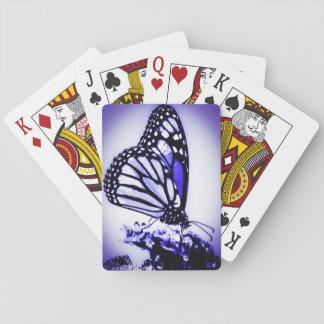 Monarkfjäril, blått spel kort
