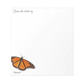 """Monarkfjäril """"från skrivbordet av…"""", anteckningsblock"""