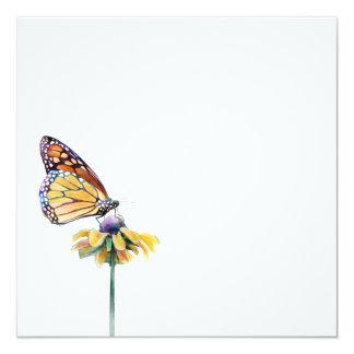 Monarkfjäril Fyrkantigt 13,3 Cm Inbjudningskort