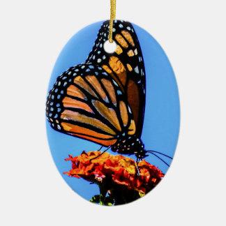 Monarkfjäril Julgransprydnad Keramik