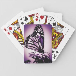 Monarkfjäril, lila spel kort