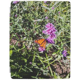 monarkfjäril med purpurfärgade prärieblommor iPad skydd