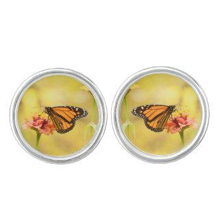 Monarkfjäril på Zinnia Cufflinks