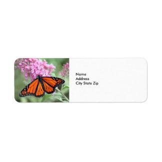 Monarkfjäril Returadress Etikett