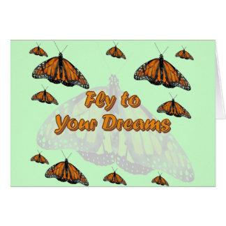 Monarkfjärilar Hälsningskort