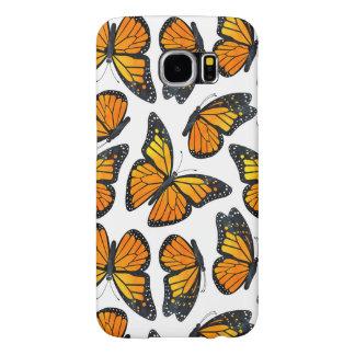 Monarkfjärilsmönster Samsung Galaxy S6 Fodral
