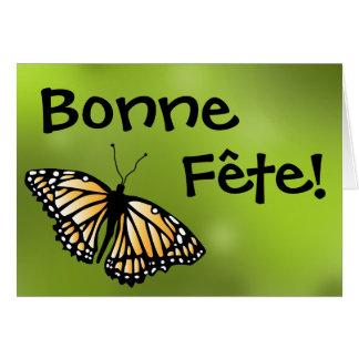 Monarkfödelsedagkort - Cajun/fransk kanadensare Hälsningskort